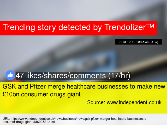 GSK and Pfizer merge healthcare businesses to make new £10bn