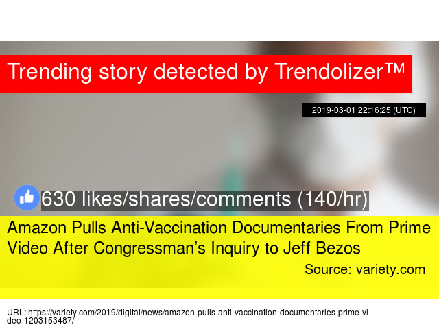 Amazon Pulls Anti-Vaccination Documentaries From Prime Video