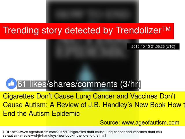 Cigarettes Don't Cause Lung Cancer and Vaccines Don't Cause Autism